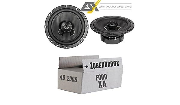 Ford Ka 2 Ru8 - Altavoces Cajas ESX hz62 Horizon - 16 cm coaxial Auto Kit de Montaje - Empotrable Set: Amazon.es: Electrónica