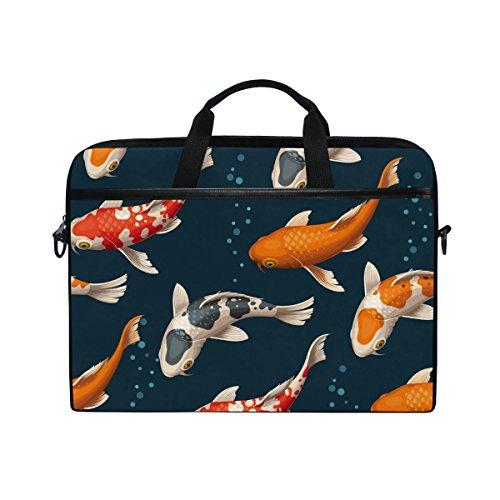 - Japanese Koi Fish 14 Inch Laptop Shoulder Messenger Bag Case Sleeve Briefcase with Handle for Women Men
