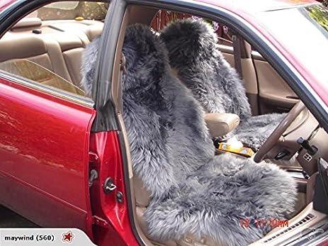 Starose New Zealand Genuine Sheepskin Car Seat Cover Bucket Universal Fit