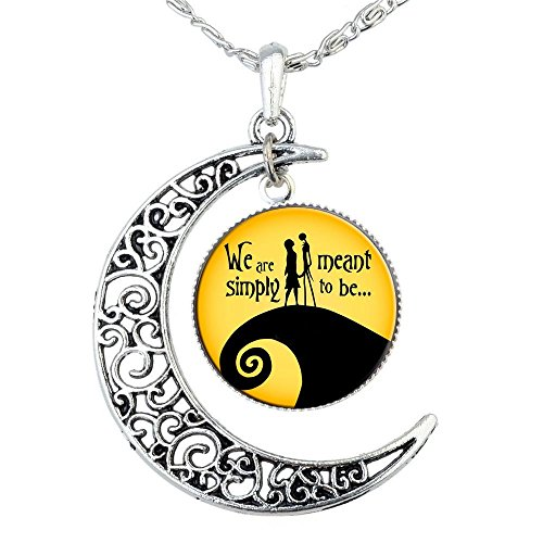 Jack Skellington Necklace Pendant Gift, Jack and Sally Nightmare Before Christmas (Yellow) (Items Dollar Women For)