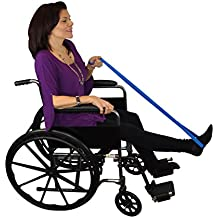 "Blue Jay Get a Leg Up 40"" Leg Lifter - Easy to Maneuver, Large Loops, Adjustable Leg Lifter to Fit Over a Cast or Boot, Reinforced Rod - Leg Lifting Loop"