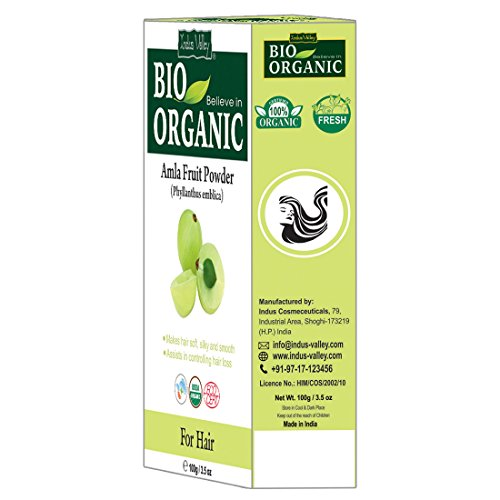 Indus Valley Natural Organic Herbs Amla Powder For Hair Nourishment & And  Regrowth
