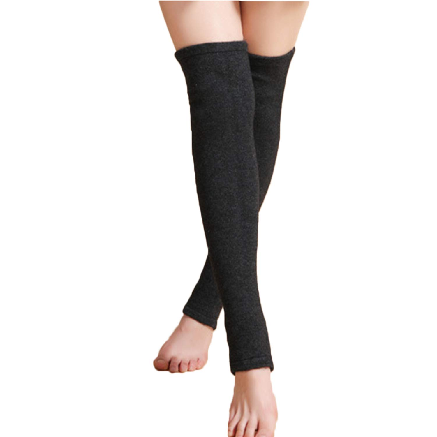 Womens Over Knee Cashmere Wool Sleeve Leg Warmers Covers Winter Leg Long Compression Sleeves Arthritis Knee Thigh Calf Shin Brace Support for Sports Training Exercises