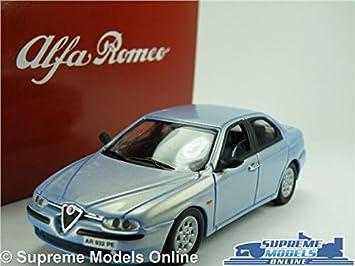 ALFA ROMEO MODEL CAR SCALE SOLIDO TIN DEALER SPECIAL BLUE - Alfa romeo scale models