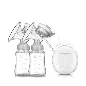 ZLMI Bomba De Mama Eléctrica Bilateral Ordeño Y Lactancia Leche Dispositivo De Bombeo Silencioso Recargable De Silicona Portátil Máquina De Ordeño,White: ...
