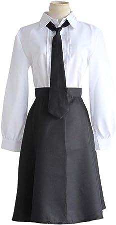 YKJ Disfraz de Cosplay de Anime Disfraz Diario Falda Corta Negra y Camisa Blanca Disfraz de Disfraces Disfraz de Escenario Uniforme Conjunto Completo,Full Set-L: Amazon.es: Hogar