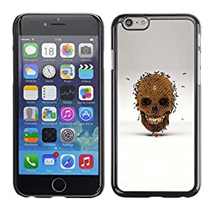 Ihec Tech Honey Bee Oro cráneo Bronce Gris / Funda Case back Cover guard / for Apple Iphone 6 Plus 5.5