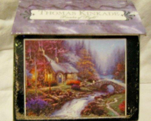 Thomas Kinkade Candles - Thomas Kinkade 100 Pc Miniature Jigsaw- Candlelight Cottage