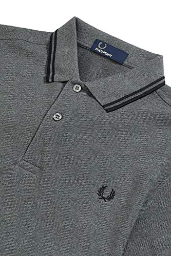 Deux M3600 Marine Fred À Perry H29 Hommes Polo Pointes Gris wcnwqH6I1Y