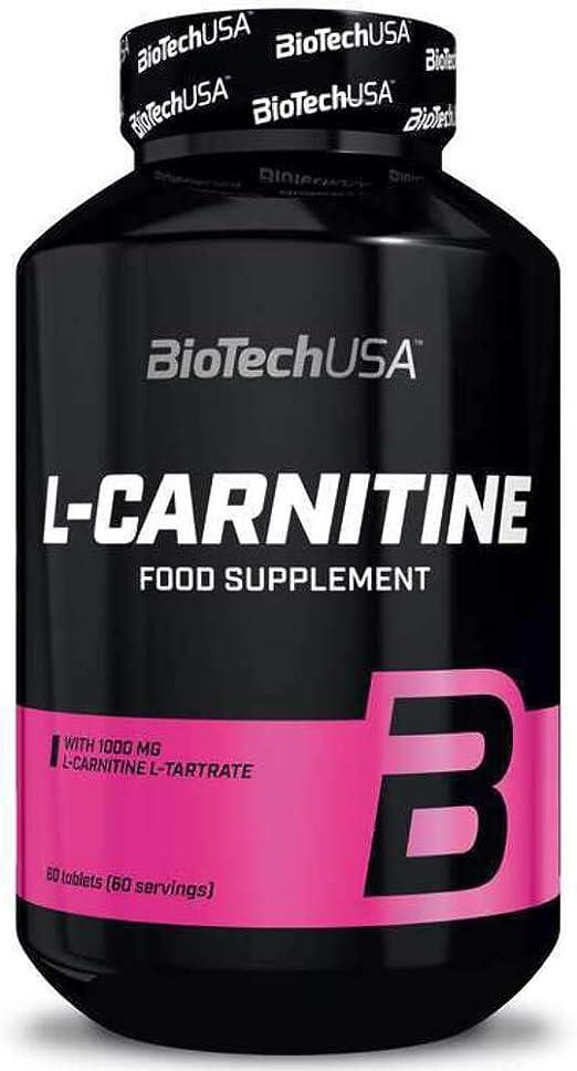 Biotech L-Carnitine IAF00081499, suplemento L-Carnitina, 60 comprimidos
