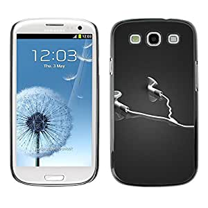 LECELL -- Funda protectora / Cubierta / Piel For Samsung Galaxy S3 I9300 -- Abstract Headphones --