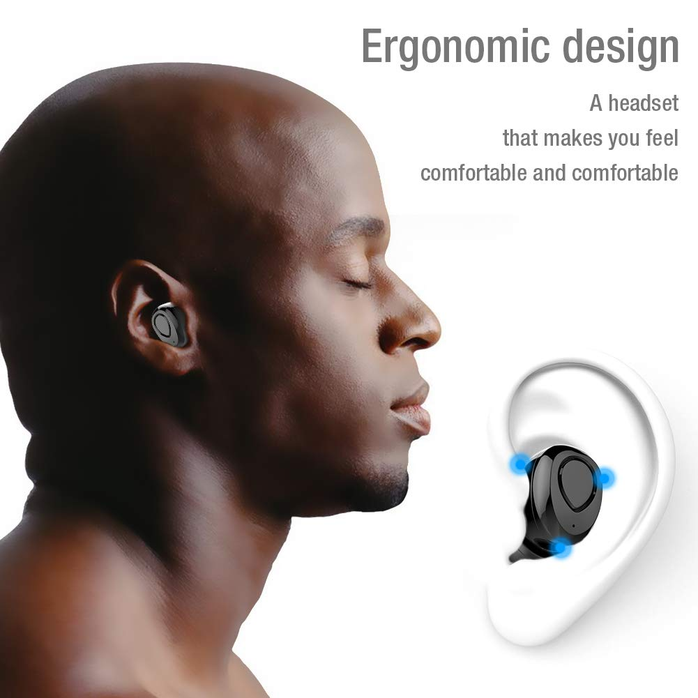 Wireless Earbuds,TNSO True Wireless Bluetooth Earbuds 15H Playtime 3D Stereo Sound,Built-in Microphone,Sweatproof in-Ear Earphones with Portable Charging Case by TNSO (Image #5)