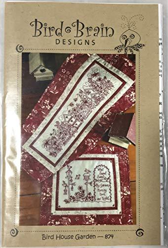Bird House Garden by Bird Brain Designs - Redwork Embroidery Pattern ()