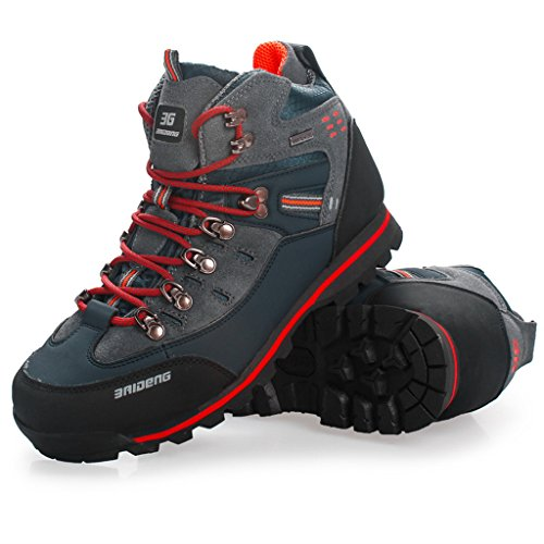 Aleader Men's Leather Waterproof Outdoor Hiking Boots ...