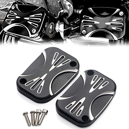 Aluminum CNC Shallow Cut Brake Master Cylinder Cover For Harley Touring Street Glide Road King & Tri Glide Ultra Classic
