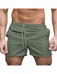Iuhan® Drawstring Shorts for Men,Casual Sports Jogging Elasticated Waist Shorts Pants