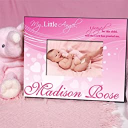 Personalized My Little Angel Pink Printed Frame