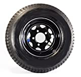 2-Pk eCustomrim Trailer Tire Rim ST205/75D15 15'' Load C 5 Lug Black Spoke 58879