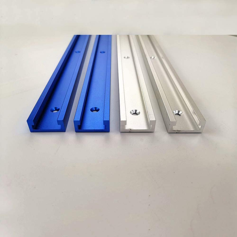 T-Schienen-Gehrungsvorrichtungs-Werkzeuge f/ür Holzbearbeitungs-Fr/äser f/ür Geb/äude und Vorrichtungen Blau 800MM T Schienen Gehrungsvorrichtungs Befestigungs Schlitz Aluminium