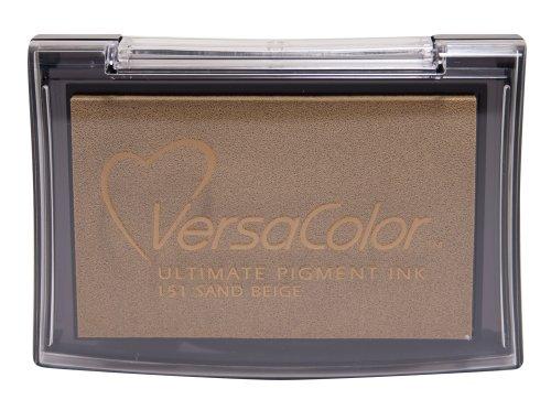 Tsukineko Full-Size VersaColor Ultimate Pigment Inkpad, Sand Beige
