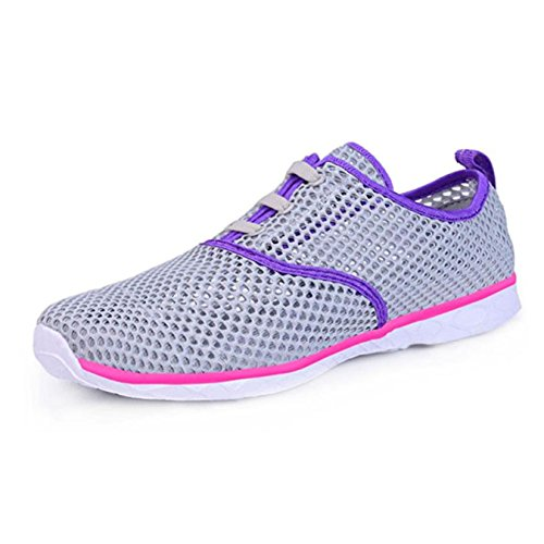 Shoes Grey Purple Lightweight Mesh Outdoor Drying Unisex Sneakers Quick Water 80zPFq