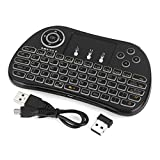 2.4GHz Mini Wireless Keyboard with Touchpad Mouse-DAODER P9 Mini Keyboard Air mouse(2017 New Design), TouchPad Combo Rechargable Li-ion Battery for PC