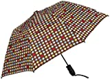 Haas-Jordan by Westcott Double Canopy Auto-Open Folding Umbrella, Multicolor