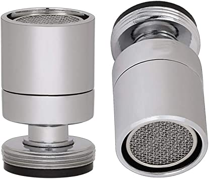 cabezal de boquilla del ajustador para cocina de ba/ño Cromo pulido Aireador macho de rosca macho M24 Burbujeador de grifo de fregadero giratorio