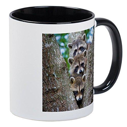 CafePress - Baby Raccoon Trio Mug - Unique Coffee Mug, Coffee Cup