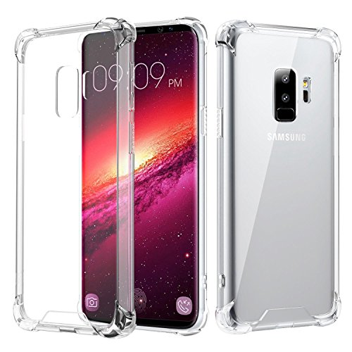 Samsung Galaxy S9 Plus Case,Crystal Clear TPU Bumper Cushion Cover with Reinforced Corners, Anti-scratch Hard PC Transparent Back Panel for Samsung Galaxy S9 Plus – Crystal Clear Review