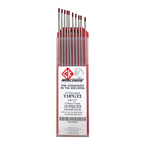 Amazon.com: CK T187GT2 - Electrodo de tungsteno con 2 % de ...
