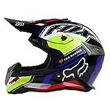Woljay Dual Sport Off Road Motorcycle Face Helmet for ATV Motocross Dirt Bike DOT Certified (M, Black)