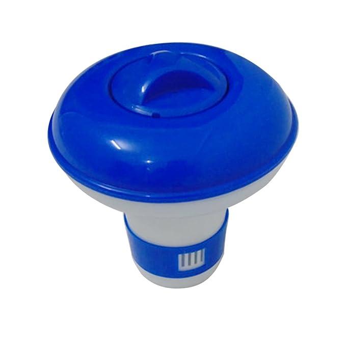 Hinmay Piscina dispensador de productos químicos bolsa de almacenamiento flotante desinfectante flotador Afloat Tablet (bromo y cloro) pastillero soporte ...