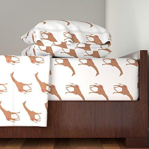 Roostery Smuk 4pc Sheet Set Giraffe Love by Smuk Queen Sheet Set Made