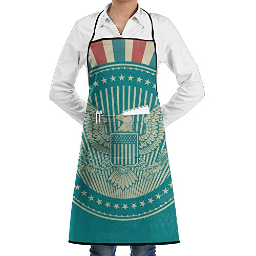 Wyfcxc Animals Eagle Flag Concise Apron For Women Work Chef