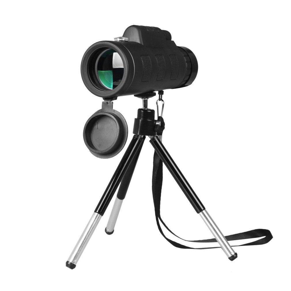 Monocular Telescope High Power 40x60 Monocular Scope with Smartphone Holder and Tripod Dual Focus Telescope for Bird Watching Hunting Camping