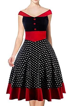 Sparkling YXB 50er Jahre Kleid vintage Rockabilly kleid Hepburn Stil ...