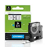DYMO Standard D1 45013 Labeling Tape ( Black Print on White Tape , 1/2 W x 23 L , 1 Cartridge)