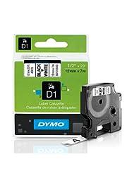 DYMO Standard D1 45013 Labeling Tape ( Black Print on White T...