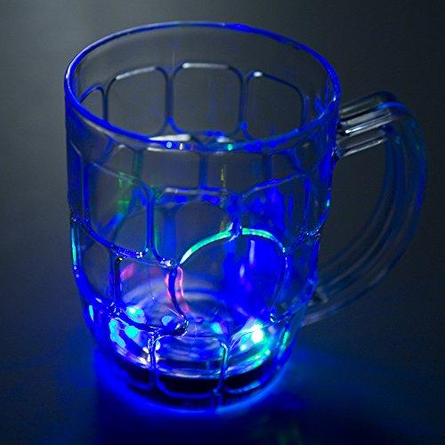 Flashing Panda 16 oz LED Light-Up Multi-Color Flashing Beer Mug