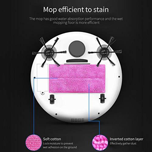 TEEPAO 3 en 1 Robot Aspirador Fregasuelos y Barrendero Inteligente, Diseño para la Limpieza del Pelos de Mascota Bajo Nivel de Ruido, Tamaño Pequeño, ...