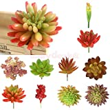 Artificial Succulent 8-Branch Cactus Foliage Plant Stem Unkillable Decor