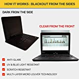Laptop Privacy Screen Filter for 12.5 Inch Widescreen Display Laptops/Tablet (16:9 Aspect Ratio). Anti Glare Protector Film for Data confidentiality (PF125W9B)