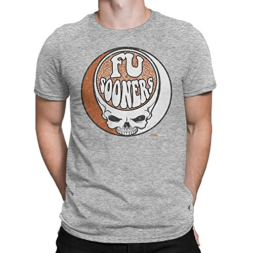 Oklahoma Haters FU Sooners Skull T-Shirt for Fans in Texas (XL) Sport Grey