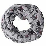 Ikevan Hot Selling Newest Women Girls Owl/Cats Pattern Retro Voile Warm Scarf Collar Scarves Neckerchief Winter 170x 50cm (Gray)