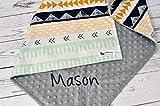 Personalized Arizona Tribal Minky Baby Blanket Girl Boy Nursery