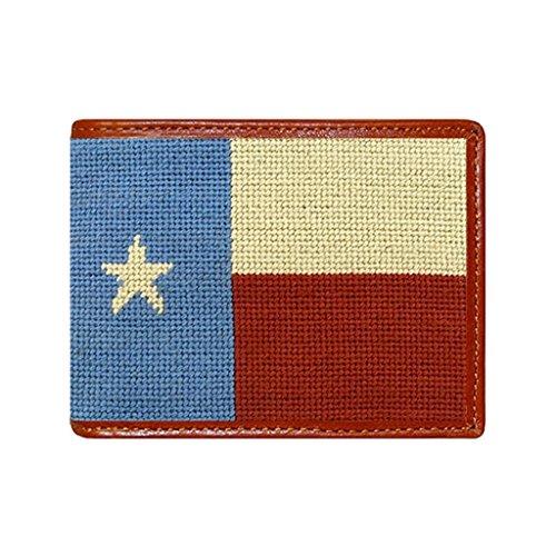 Vintage Texas Flag Needlepoint Wallet by Smathers & - Needlepoint Flag
