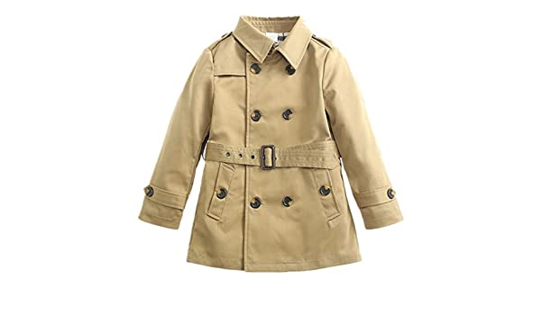 LJYH Baby Girls Spring Autumn Trench Coat Double Breasted Jacket