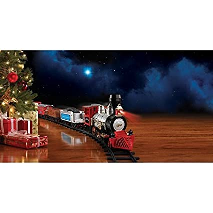 blue hat north pole junction christmas train set multiple - North Pole Junction Christmas Train