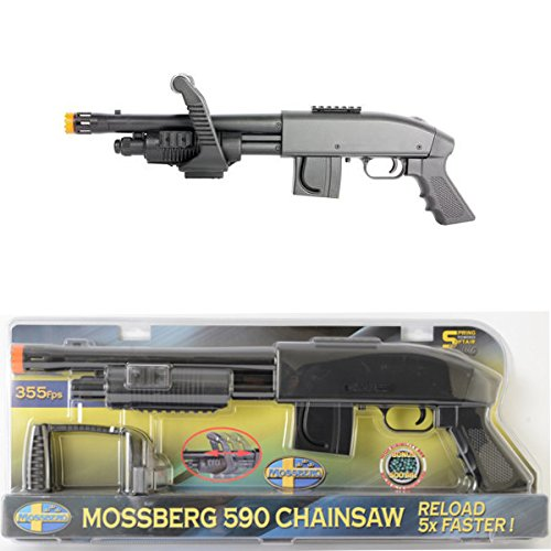 Mossberg M590 Chainsaw Spring Airsoft Shotgun with Easy Load Grip and Velocity of 355 FPS by Mossberg